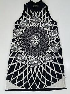 TWINSET Simona Barbieri Sleeveless Floral Mandala Knit Dress Size M