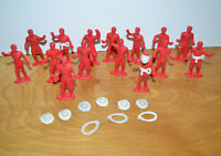 Vintage MPC RINGHAND FIREMAN FIGURES With Accessories Firefighters Toy Soldiers