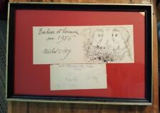 VINTAGE - VERY NICE, Michael Ciry Pen & Ink Sketch/Drawing on Card / Signed 1956