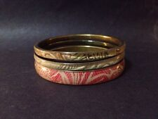 Pre Owned Set of 3 x Fabric Patterned Bangles