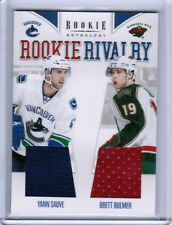 11/12 ROOKIE ANTHOLOGY YANN SAUVE BULMER RC RIVALRY DUAL JERSEY WILD CANUCKS