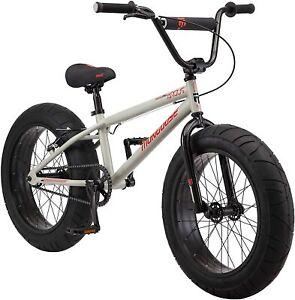 "Mongoose Argus MX Kids Fat Tire Mountain Bike, 20"" Wheels, Single Speed, Tan"