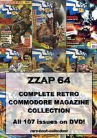 ZZAP 64 - All 107 Magazine Issues on DVD - COMMODORE AMIGA Video Games Console
