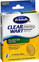 Dr. Scholl's Wart Remover CLEAR AWAY PLANTAR Discs 24 ct