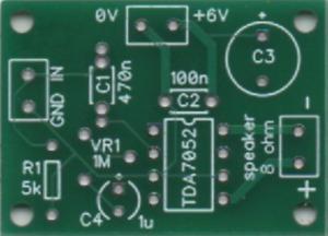 KMTech TDA7052 BLT 1W mono amplifier DC Volume Control DIY PCB.