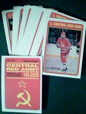 90/91 O-PEE-CHEE RED ARMY (1R-22R) AND USSR SOVIET WINGS & DYNAMO RIGA CARDS SET