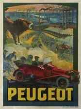 Metal Sign Peugeot Car Art Deco Tamagno A4 12x8 Aluminium
