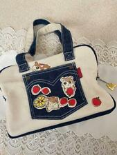 Tottoko Hamtaro hamutaro cute printed Denim emblem cotton bag 17×25×9cm size