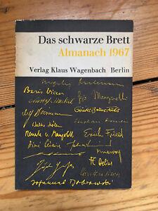 Das schwarze Brett Almanach 1967 Wagenbach George Grosz Anarchismus Kommunismus