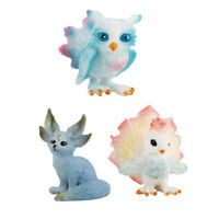 3x Mythical Animals Model Action Figures Toys for Car Dashboard Home Decor