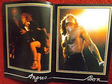 RARE ACDC 1978 IYWB PROGRAMME & TICKET STUB BON SCOTT ANGUS YOUNG PHIL RUDD