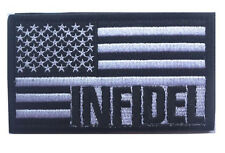 AMERICAN FLAG INFIDEL USA MILITARY TACTICAL US MORALE  PATCH