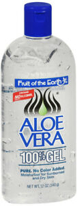 Fruit Of The Earth Aloe Vera 100 % Gel 12 oz for sunburn, insect bites, dry itch