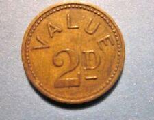 Vintage Clown 2 Pence Amusement token