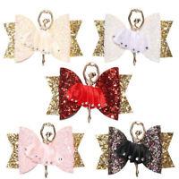 Kids Girls Ballerina Glitter Bow Sparkly Hair Clip  Hairpin Children Barrettes