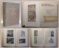 Johannsen Die Geschichte der Textil-Industrie 1932 Technikgeschichte illustriert