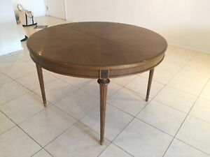 French wooden extendable round / oval table, seats 6 - 8 people