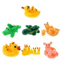 4pcs Rubber Duck Family Set Squeaky Bath Toys Water Play Kids Toddler Fun Time