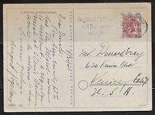 GERMANY 1948 POST CARD FRANKED 30pf WITH post HORN OVPT. TO US