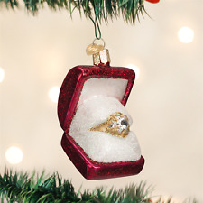 OLD WORLD CHRISTMAS RING IN A BOX GLASS CHRISTMAS ORNAMENT 32176