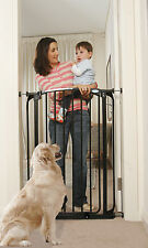 """Dream Baby Extra Tall Baby Pet Pressure Safety Gate 53-56.5"""" Wide, Black"""