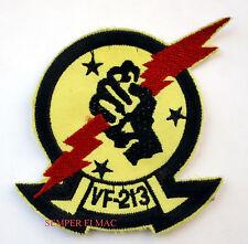VF-213 FIGHTER SQUADRON HAT PATCH USN TOP GUN ICE MAN US NAVY VETERAN PILOT WOW