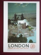 POSTCARD GWR - LONDON ENQUIRE FOR CHEAP TICKETS
