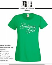 GALWAY GIRL IRISH MENS & LADIES T-SHIRTS S-XXL 3 DIFFERENT COLOURS