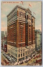 The Hotel McAlpin in Herald Square New York City Divided Back Postcard 1915