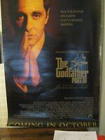 GODFATHER PART III video promo poster original 1990 Al Pacino