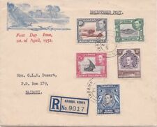 K.U.T 1952 Day Of Issue 5 adhs Registered cover from Nairobi. Nice looker.