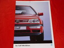 """VW Golf III VR6 """"Edition"""" Sondermodell Prospekt von 1994"""