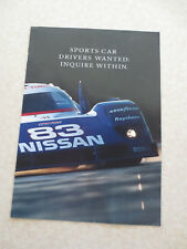 1992 Nissan NX 2000 & 240SX & 300ZX  automobile advertising booklet