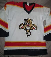 1990s vintage FLORIDA PANTHERS White hockey jersey SEWN QUALITY Youth size L XL