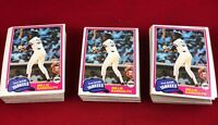 Lot of 140 Cards 1981 Topps Willie Randolph Baseball Card # 60  RG1