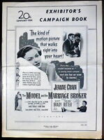 Jeanne Crain ORIGINAL 1950s Pressbook The Model and the Marriage Broker