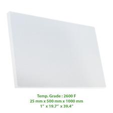 "Thermal Insulation Board 2600 F 39.4"" X 19.7"" X 1"""