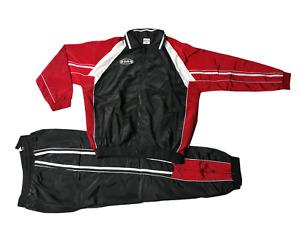 Freizeitanzug Trainingsanzug Präsentationanzug Cobra/Sons Schwarz/Rot/W. XL, 3XL