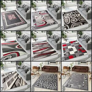 NEW BEAUTIFUL GREY MODERN AREA RUGS TOP DESIGN LIVING ROOM ! Different Sizes !