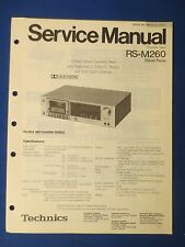 TECHNICS RS-M260 CASSETTE SERVICE MANUAL ORIGINAL FACTORY ISSUE THE REAL THING