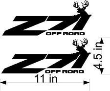 """(2) 11"""" Z71 OffRoad Deer Decals Vinyl Decals Truck Hunting Buck"""