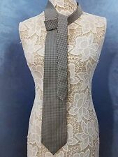 Brooks Brothers Makers All Silk Made in USA Tie Black and Beige Woven