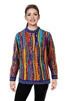 Geccu 3D Multi Colour Merino Wool Sweater Knitwear Jumper (Coogi Look)