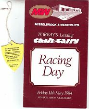 NEWTON ABBOT RACES 11 MAY 1984 COURSE STAND & PADDOCK BADGE & RACECARD VGC