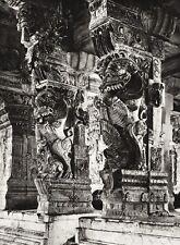 1934 Vintage 11x14 INDIA Arulmigu Ramanathaswamy Temple Interior Art ~ HURLIMANN