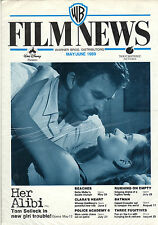 WARNER BROS FILM NEWS May/June1989 Her Alibi,Beaches,Batman,Police Academy 6 etc