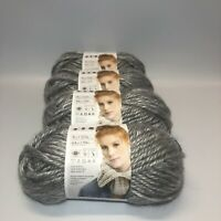 Lion Brand Hometown Yarn Springfield Silver Acrylic Set Of 4 Super Bulky