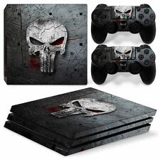Punisher Sony PS4 PRO Console & 2 Controllers Decal Vinyl Skin Wrap Sticker