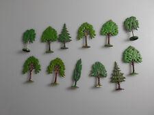 Lego® System 12x alte Bäume grün 1:87
