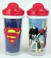 Playtex DC Superfriends 9oz Insulated Sippy Cup Sipsters Superman Pop-Up Straw